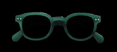 Izipizi Sunglasses #C - Soft Grey/Green Crystal