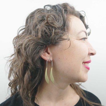 Natalie Joy Breeze Earrings - Brass