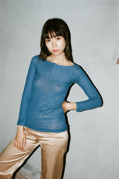 Baserange Nida Longsleeve Tee - Tang Blue