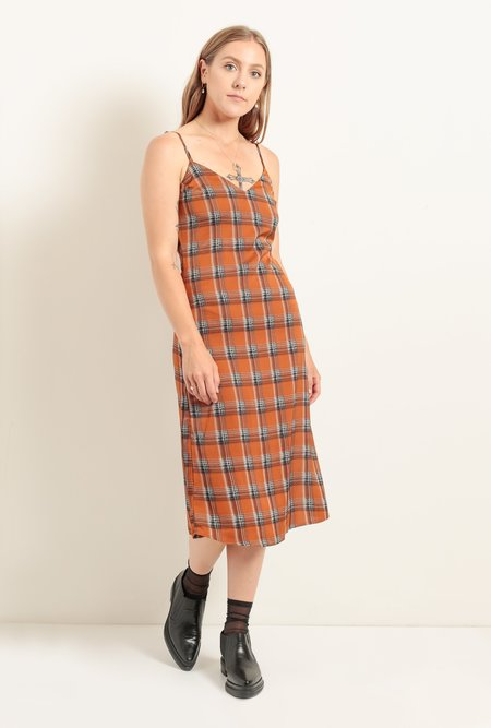 Azalea Becky Plaid Mini Dress - Spice