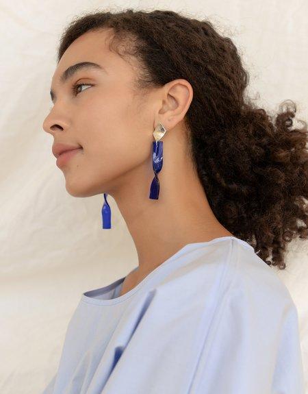 Cled Frozen Wave Earrings - Blue Ocean
