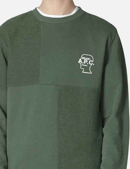 A.P.C. x Brain Dead Pony Sweatshirt - Vert Grise Green