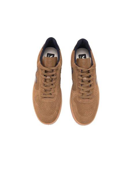 VEJA V-10 Suede Sneaker - Brown/Gum Sole