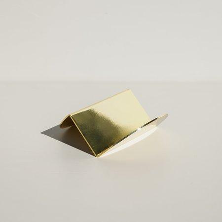 Souda Wave Business Card Holder - Brass