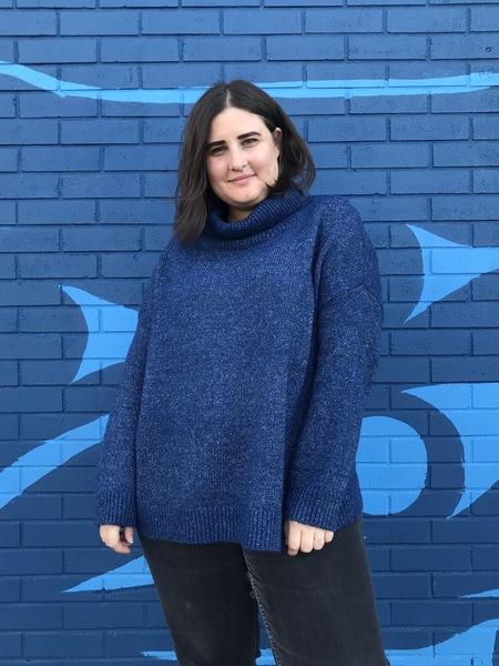 Elk Meldal Roll Neck Sweater - Blue