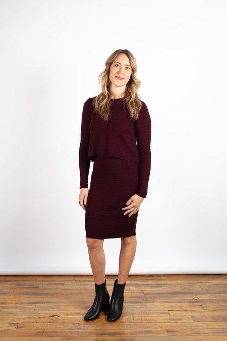 Valérie Dumaine Rea Dress - Bordeaux