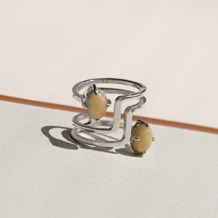 Lindsay Lewis Jewelry Flipside Ring - Sterling Silver