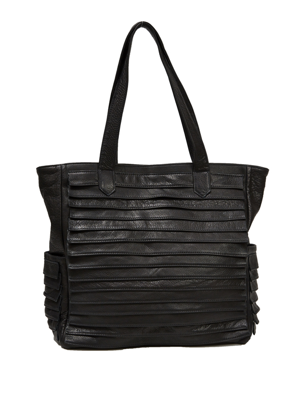 Collina Strada Bottega Bag Black Leather