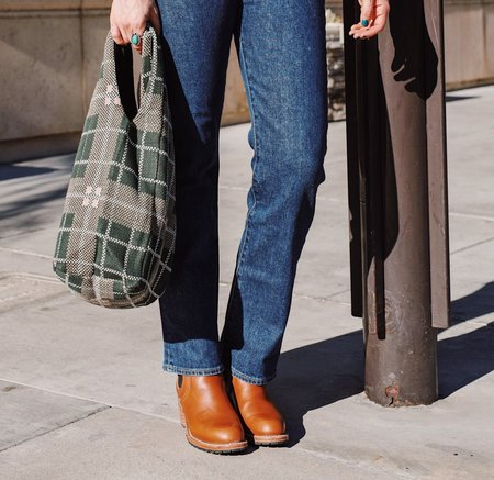 Hansel from Basel Plaid Shopper Bag - Hunter