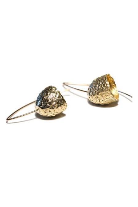 Kirsten Meunster Capule Earrings - Yellow Bronze