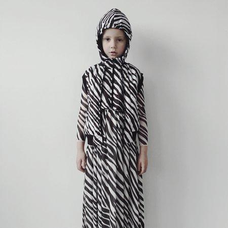 Kids Caroline Bosmans Snood - Zebra Print