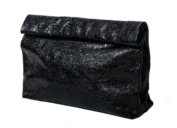 Marie Turnor Lunch Clutch - Black Foil