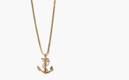 Vintage Kindred Black The Rock Necklace - Gold