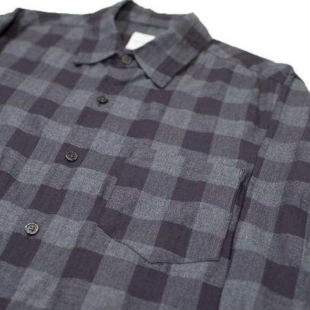 Sage de Cret Checkered Long Sleeve Shirt - Black/Grey