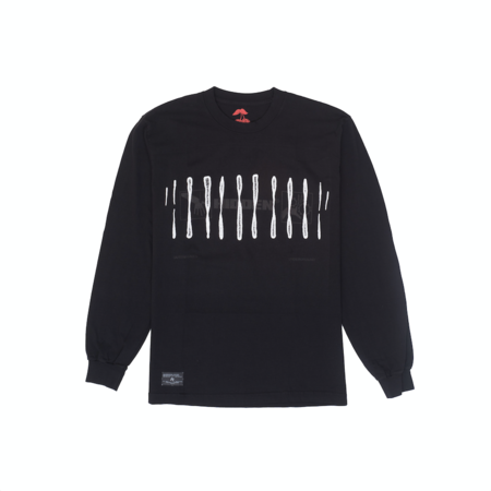 Hidden Characters Chromosome Long Sleeve - Black