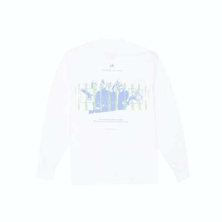 Hidden Characters Chromosome Long Sleeve - White