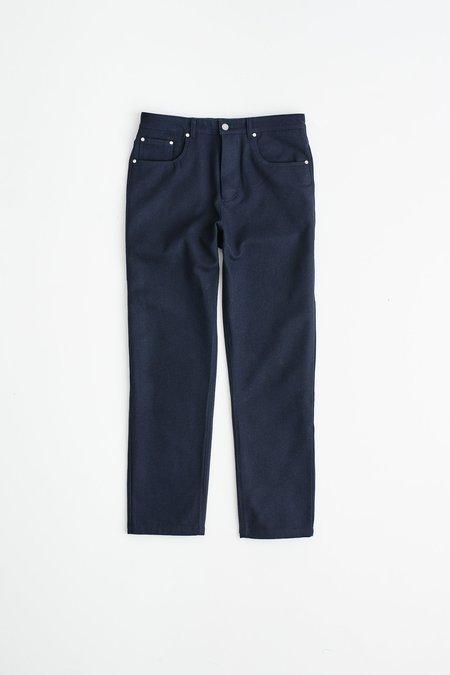 A Kind Of Guise Odon Wool Wide Jeans - Dark Navy