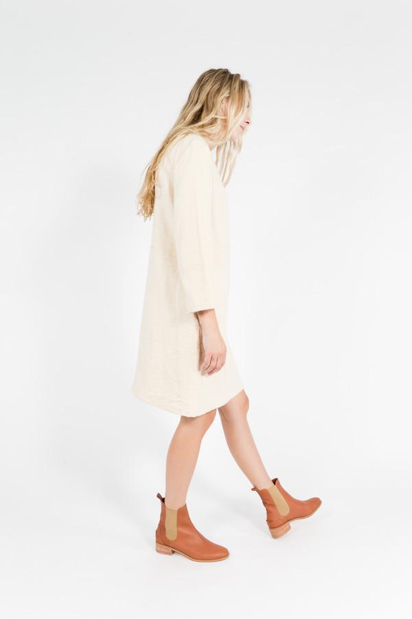 Han Starnes Slit Back Cotton Dress
