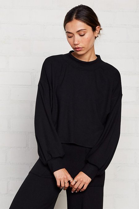 Rachel Pally Luxe Rib Sweatshirt - Black