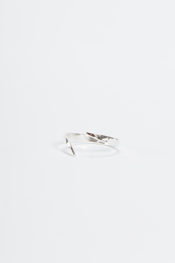 Knobbly Studio Tapered Open Ring Silver