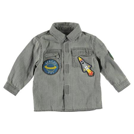 Kids Stella McCartney Baby Long Sleeved Shirt With Patches - Grey