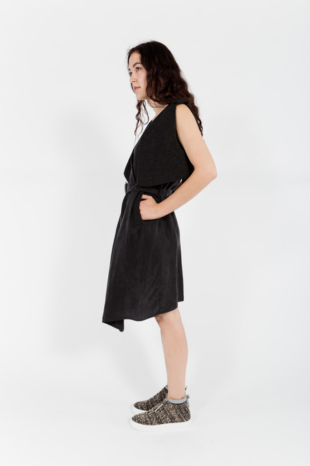 7115 by Szeki Vest Wrap Dress