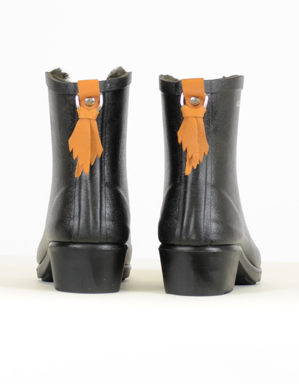 Aigle Miss Juliette Rainboot With Fur Noir