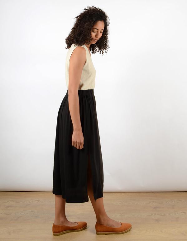 Ali Golden Midi Skirt Black