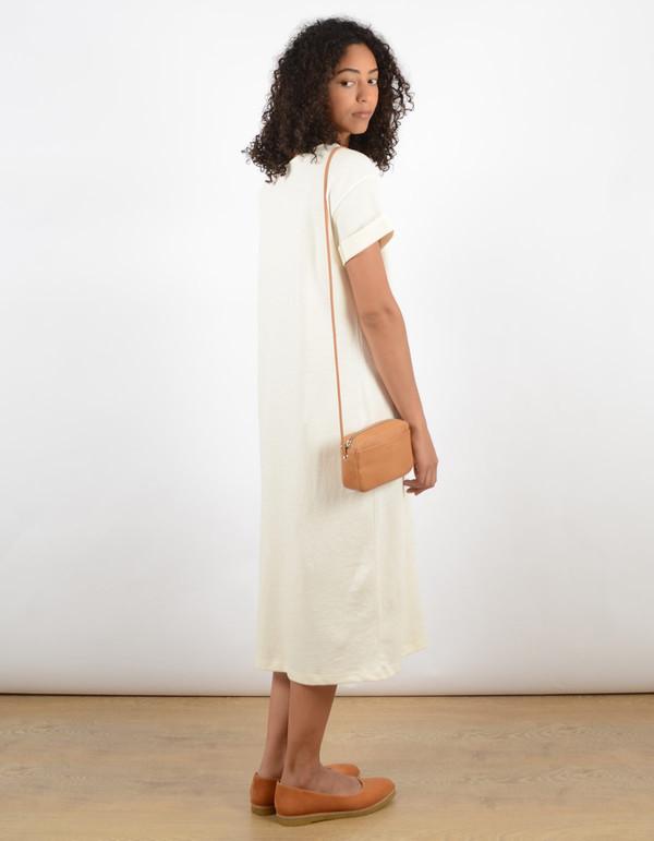 Ali Golden Roll Sleeve Tee Dress Cream
