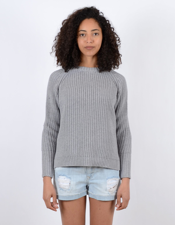 Assembly Label Fishermans Knit Grey Marl