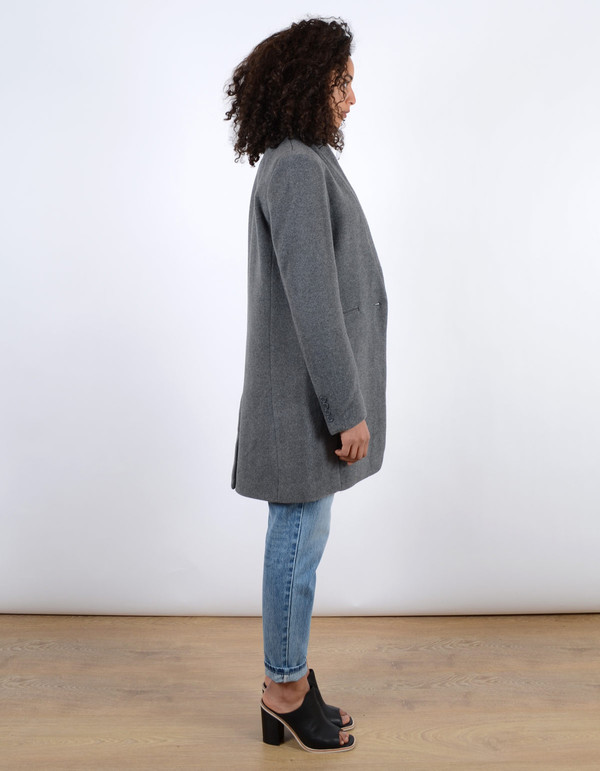 Assembly Label Wool Coat Grey Marl