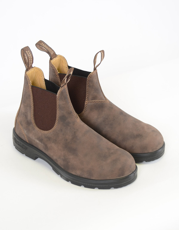 Blundstone Men's 585 Round Toe Boots Rustic Brown