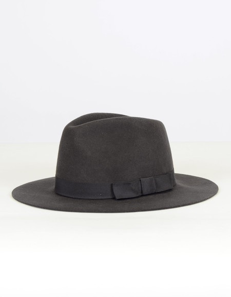 Brixton Indiana Fedora Washed Black