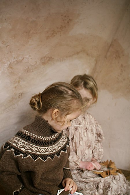 KIDS Tambere Luigi Dress - Brown Toile