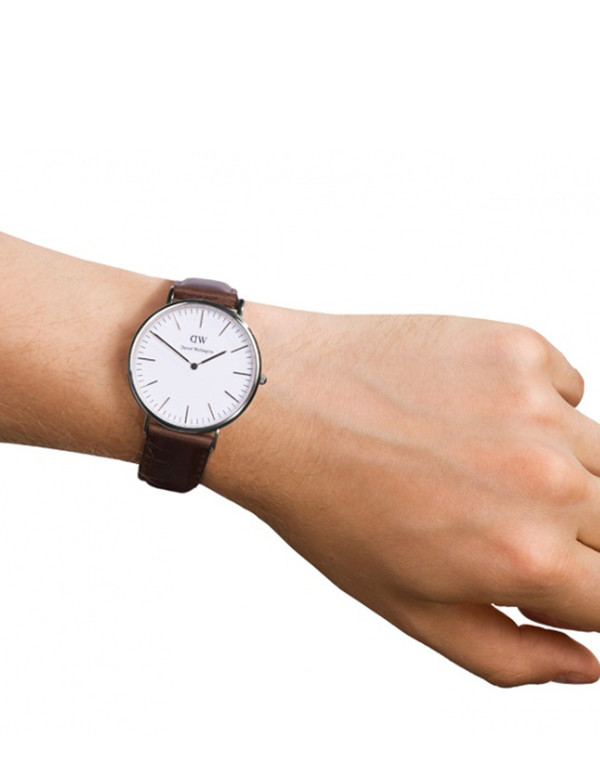 Daniel Wellington Bristol Watch Silver 40mm