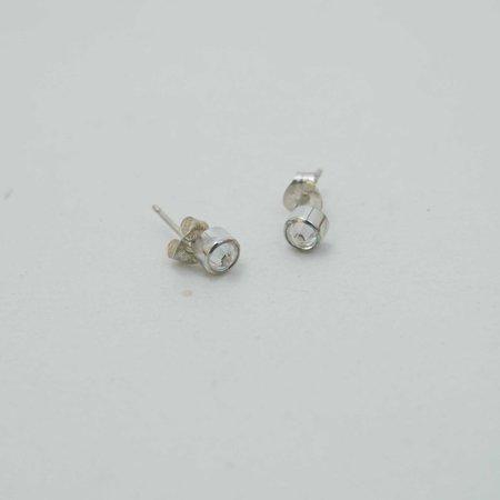 Favor Cubic Zirconia Spike Post Earring - Silver