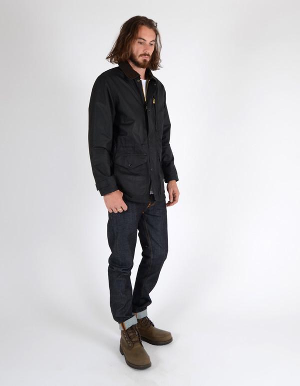 Men's Filson Cover Cloth Mile Marker Coat Black