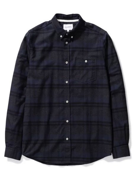 Norse Projects Anton Check Shirt - Dark Navy