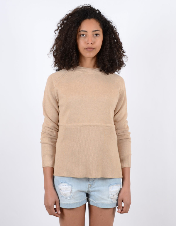 Just Female Daub Knit Camel