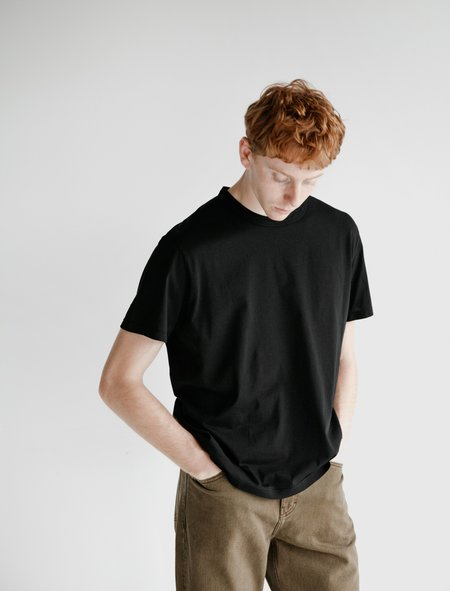 Our Legacy New Box Clean Jersey T-Shirt - Black