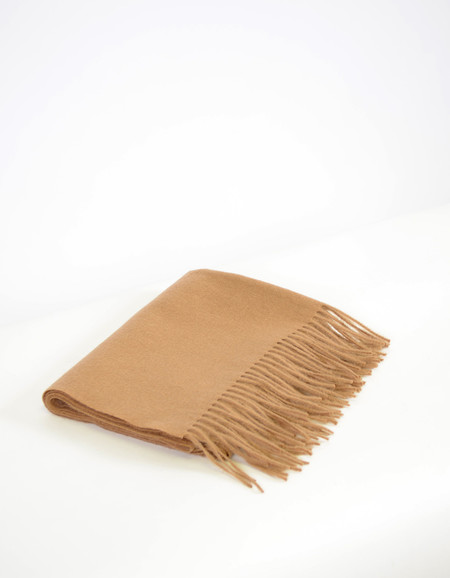 Minimum Gry Wool Scarf Camel