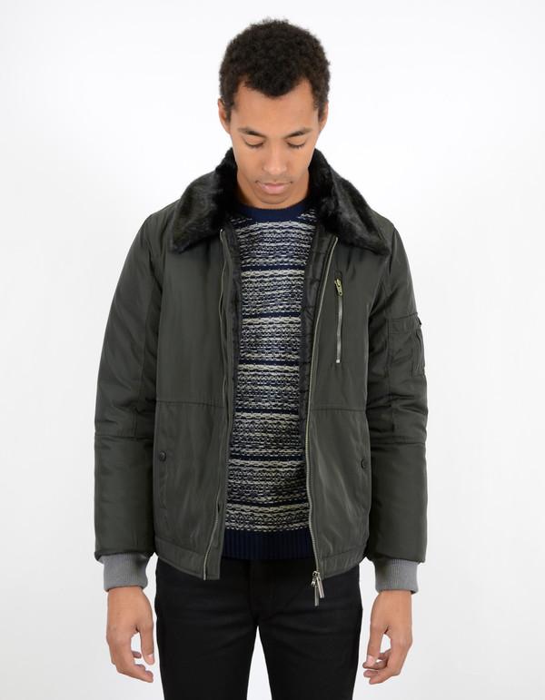 Men's Native Youth Fur Collar Flight Jacket