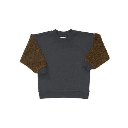 Kids Bacabuche Sherpa Sleeve Fleece Pullover - Black/Olive