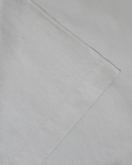 Shop Sunday Morning Marcel Linen Fitted Sheet - Glacier