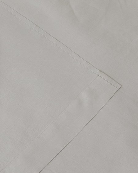 Shop Sunday Morning Marcel Linen Flat Sheet - Dove