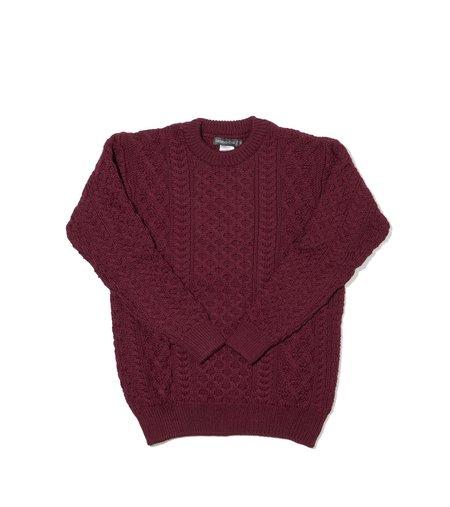 Ireland's Eye Aran Sweater - Claret