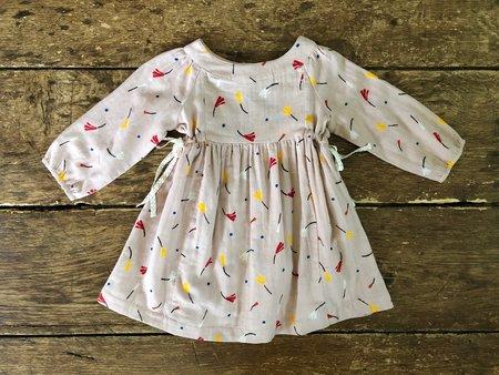 Kids Lali Side-Tie Dress - Rosy