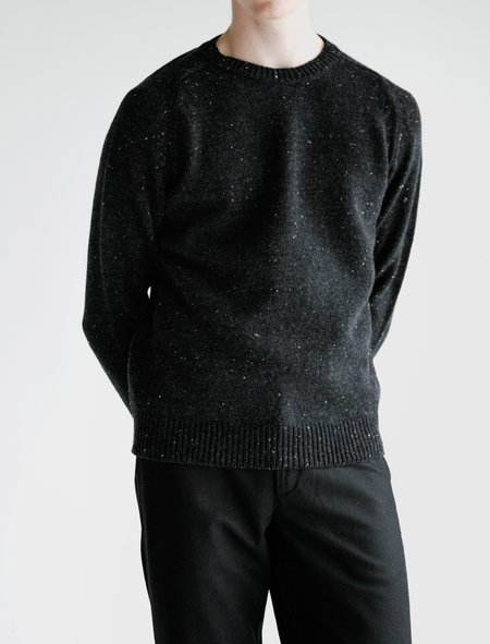 Norse Projects Viggo Crewneck Neps Sweater - Charcoal Melange