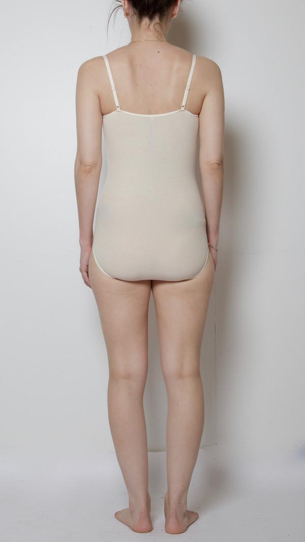 Baserange Emily Rib Bodysuit in Off-White