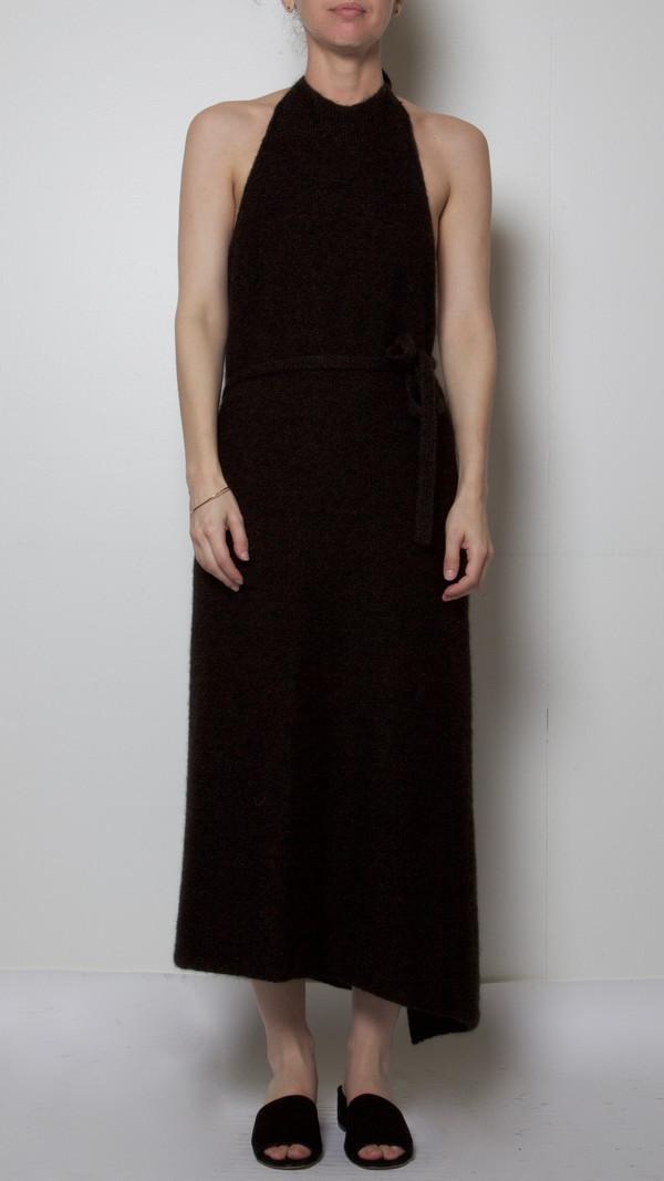 Baserange Knit Apron Dress in Black